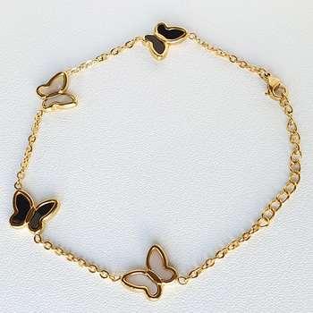 دستبند زنانه طرح پروانه کد Mhr-411