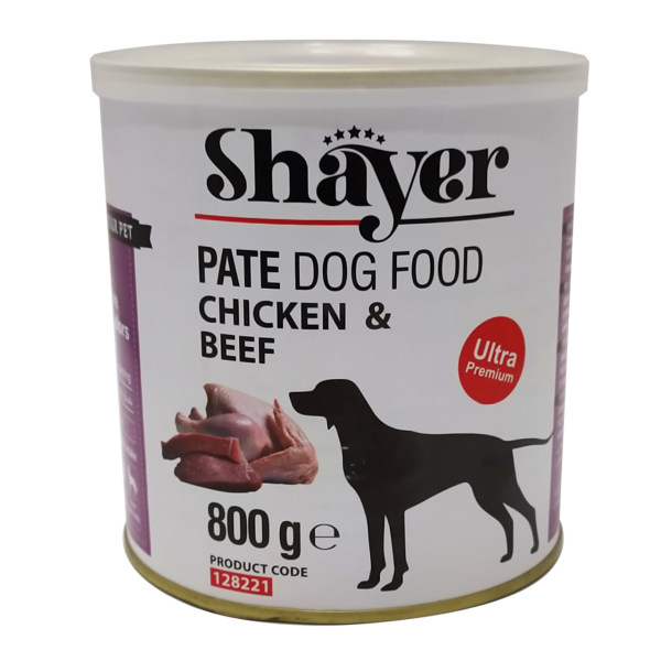 کنسرو غذای سگ شایر مدل  chicken and beef 2 وزن 800 گرم