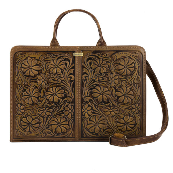 کیف دستی زنانه چرم نگار طرح گل کد 207080
