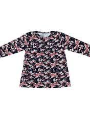 ست تی شرت و شلوار دخترانه طرح پروانه کد 3069 رنگ سرمه ای -  - 3