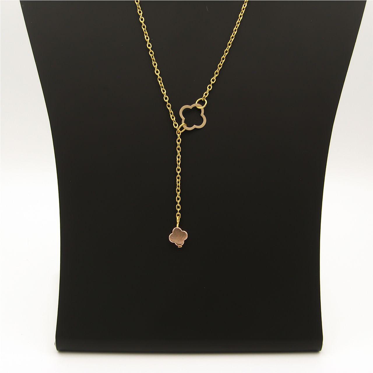 گردنبند طلا 18 عیار زنانه مانچو کد sfg652 -  - 3