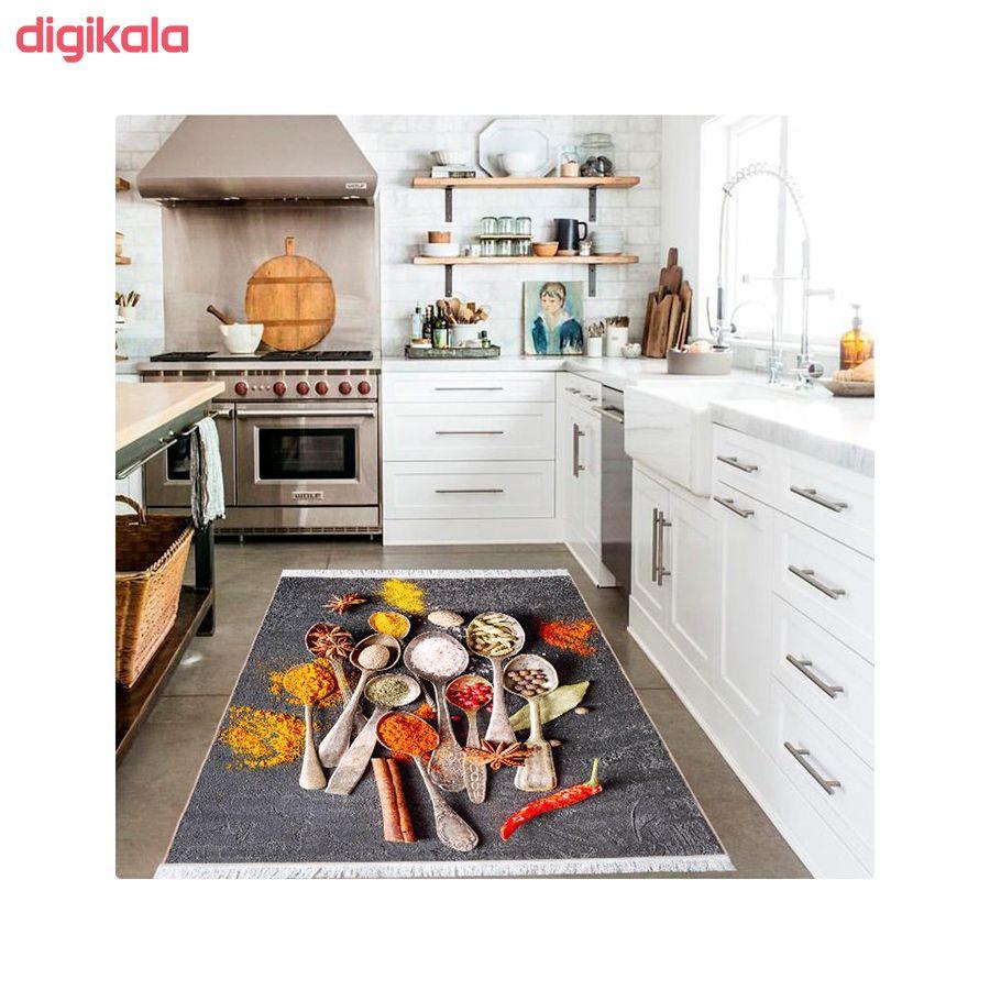 فرش ماشینی محتشم طرح ادویه جات کد 100488 زمینه طوسی  main 1 1