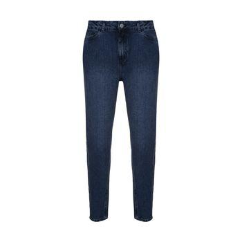 شلوار جین مردانه گری مدل جین مام استایل رنگ آبی