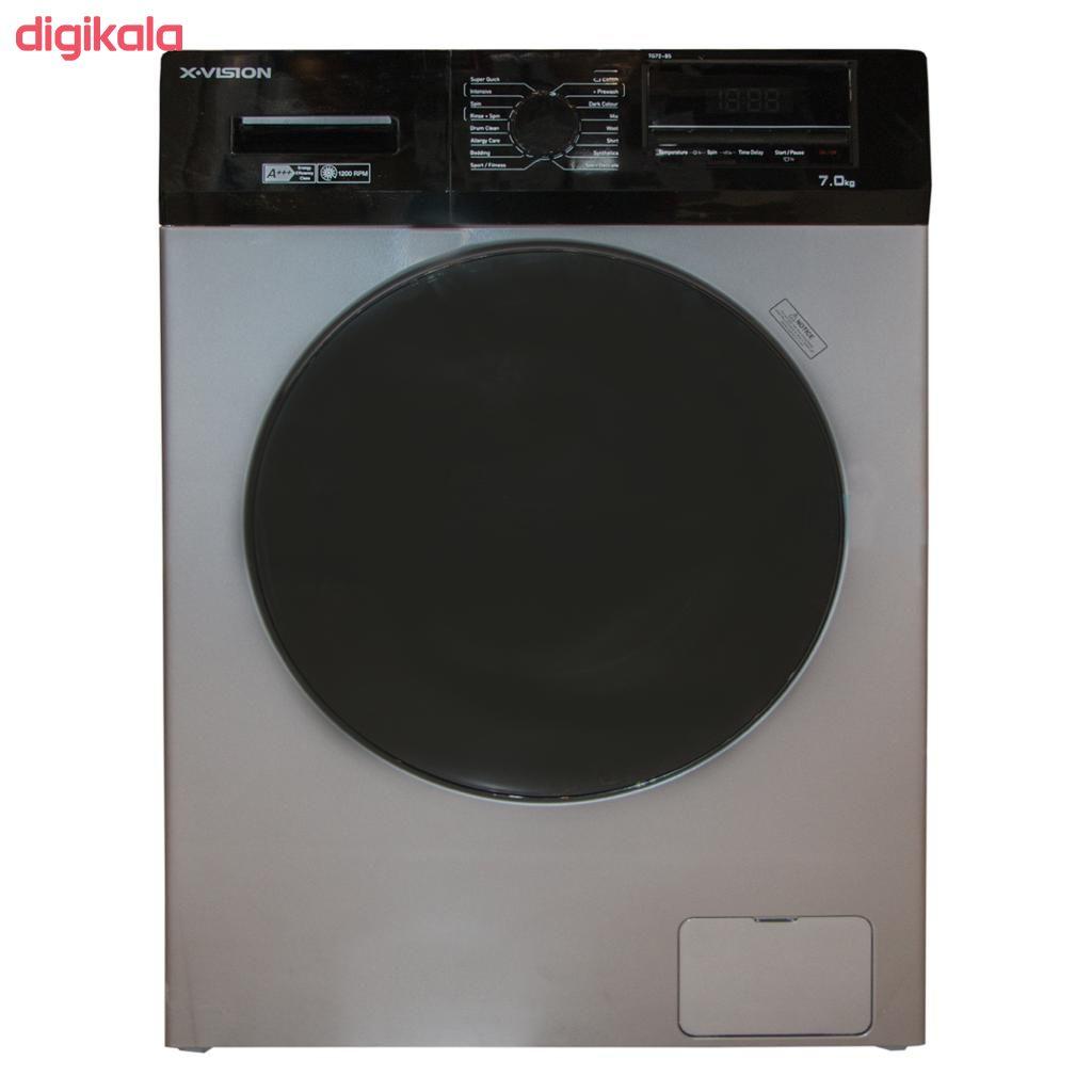 ماشین لباسشویی ایکس ویژن مدل ماشین لباسشویی ایکس ویژن مدل TG72-BW/BS ظرفیت 7کیلوگرم main 1 1