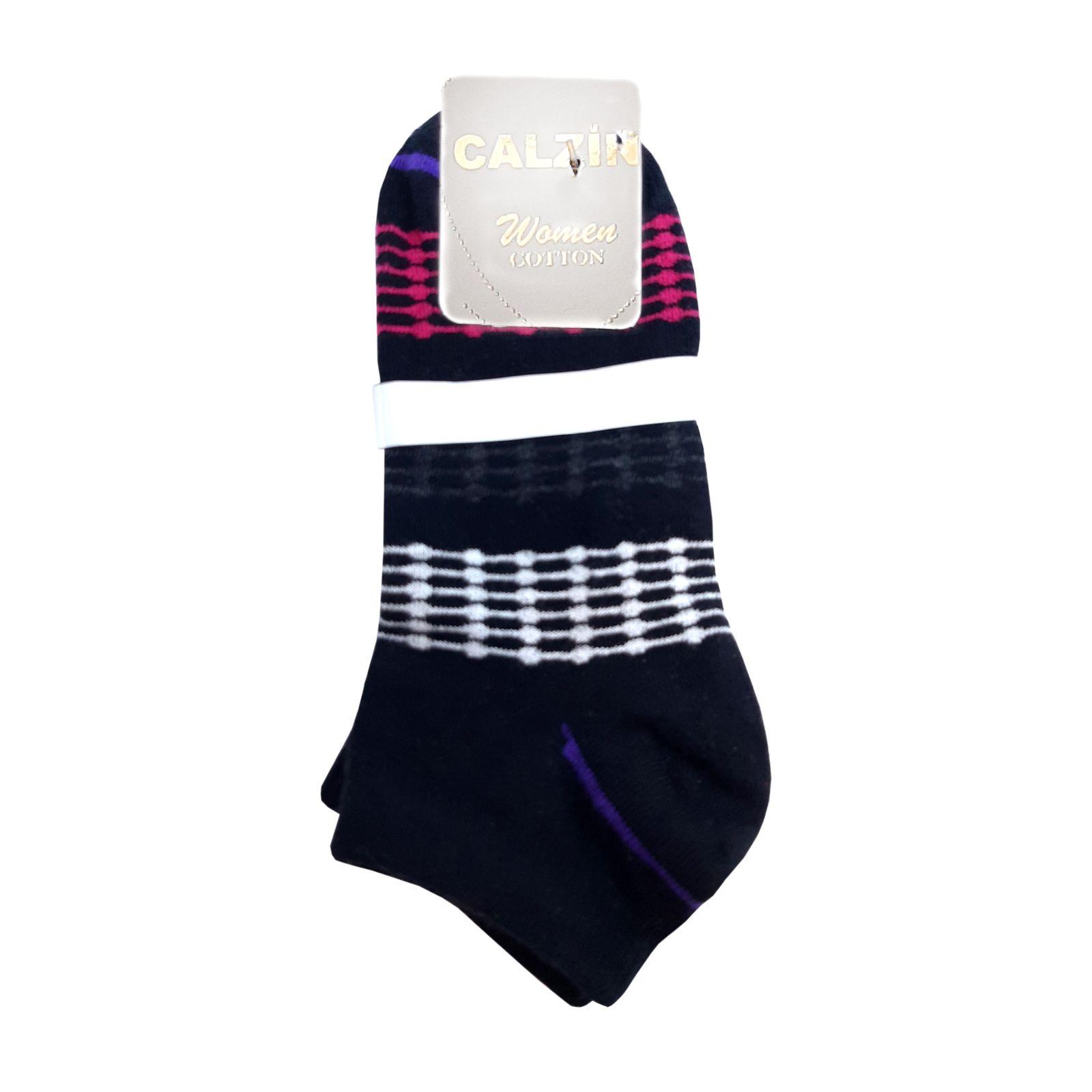 جوراب زنانه کالزینی مدل آر کد 143 -  - 2