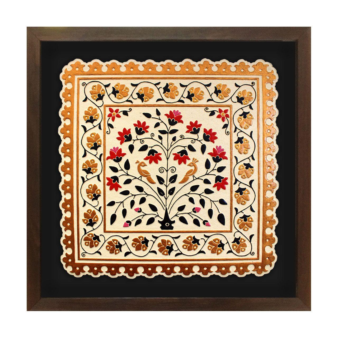 تابلو برجسته لوح هنر طرح باغ طوبی کد 191