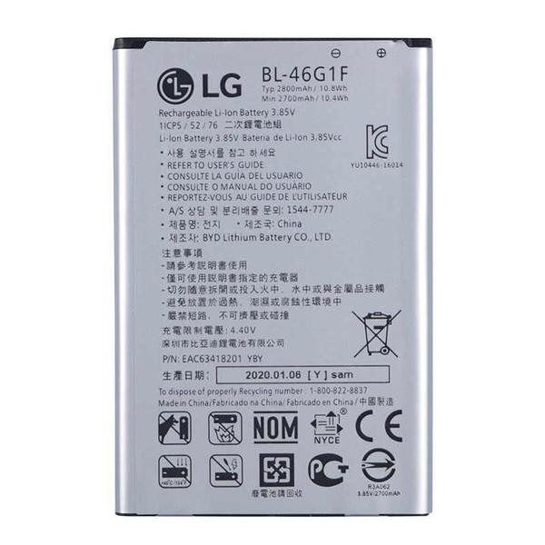 باتری موبایل مدلBL-46G1F74ظرفیت 2800 میلی آمپر ساعت مناسب برای گوشی موبایل ال جی K10 2017
