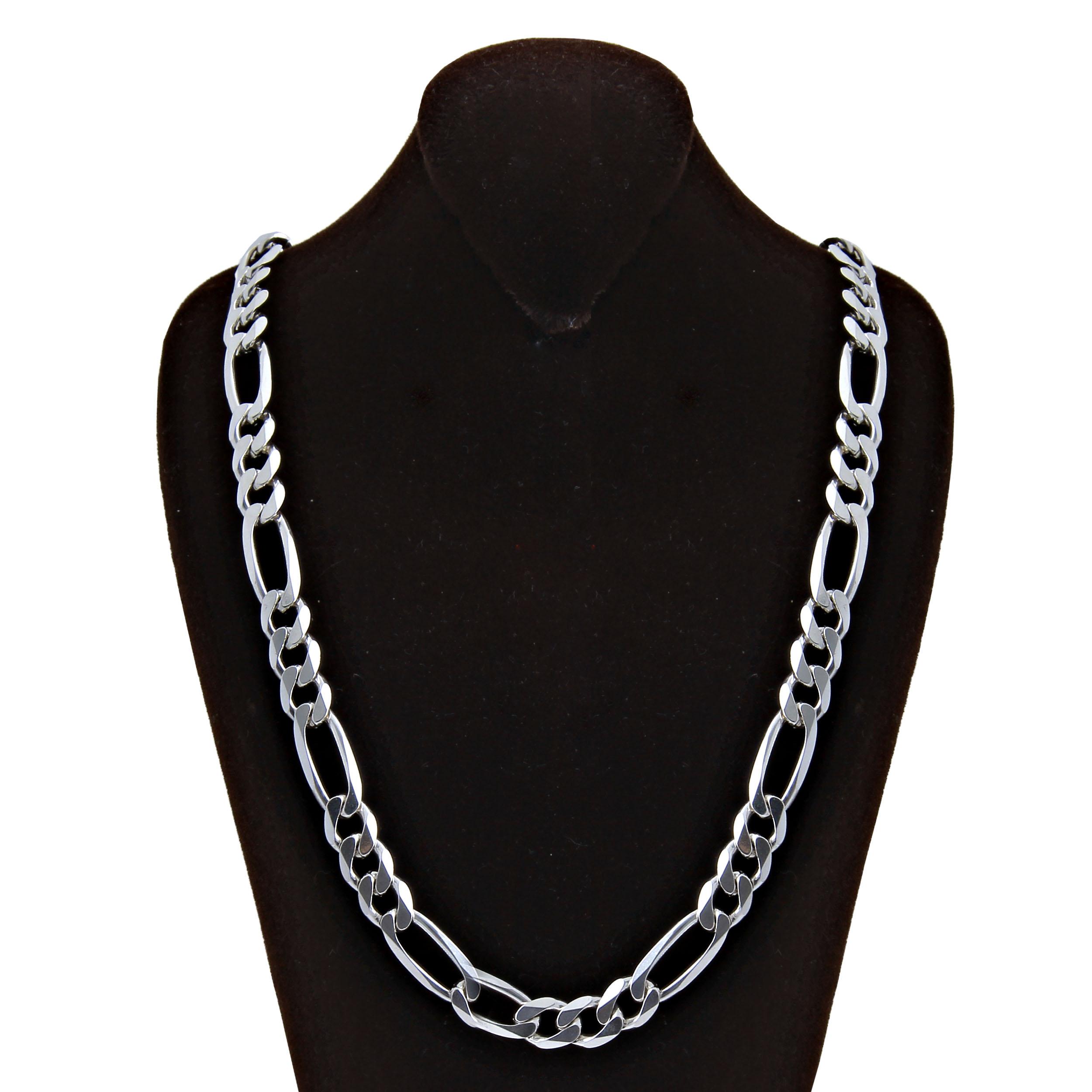 زنجیر نقره مردانه بازرگانی میلادی  کد  ZR_013