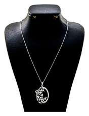گردنبند نقره زنانه دلی جم طرح نیست مرا جز تو دوا ای تو دوای دل من کد D 55 -  - 1