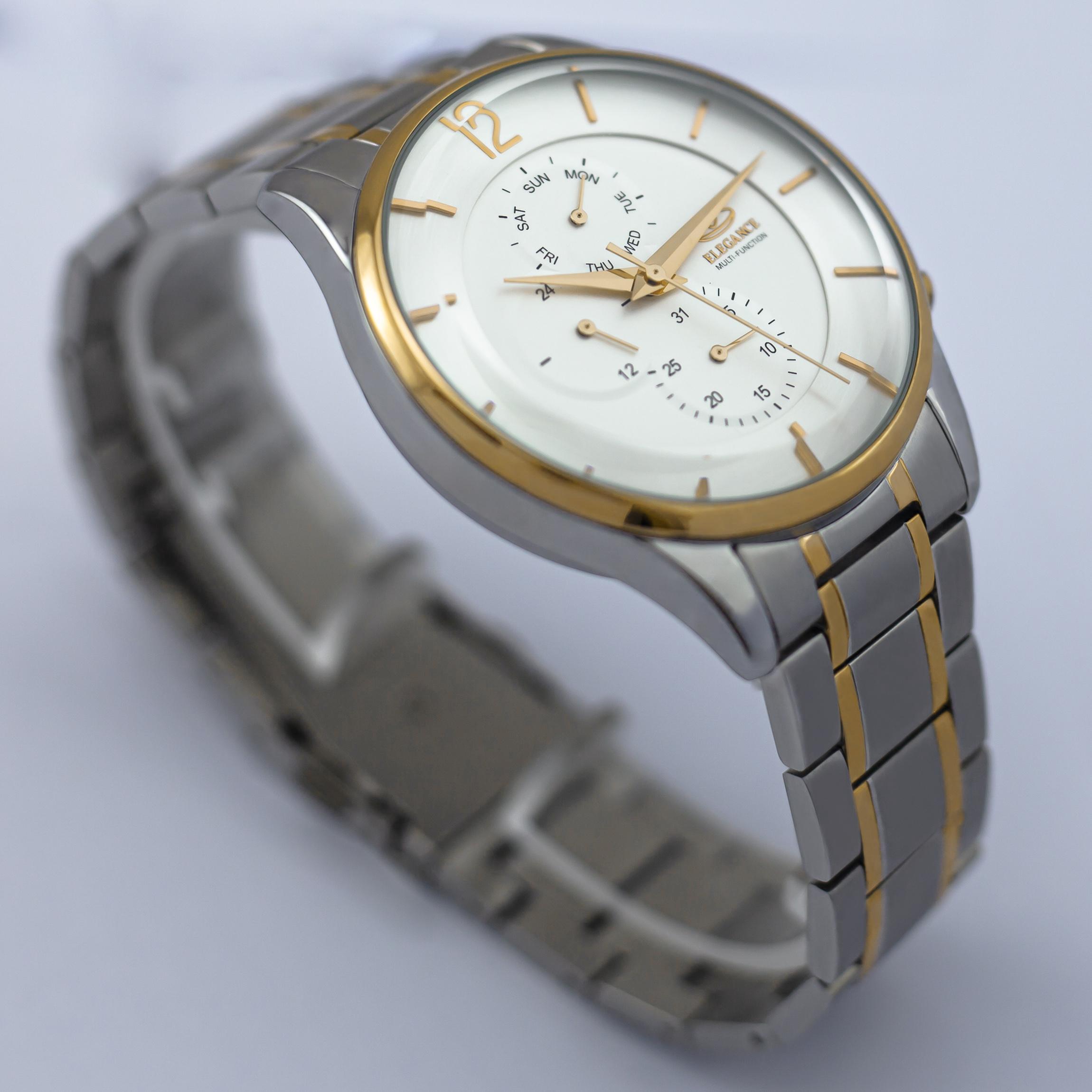 ست ساعت مچی عقربه ای زنانه و مردانه الگانس مدل EG1196