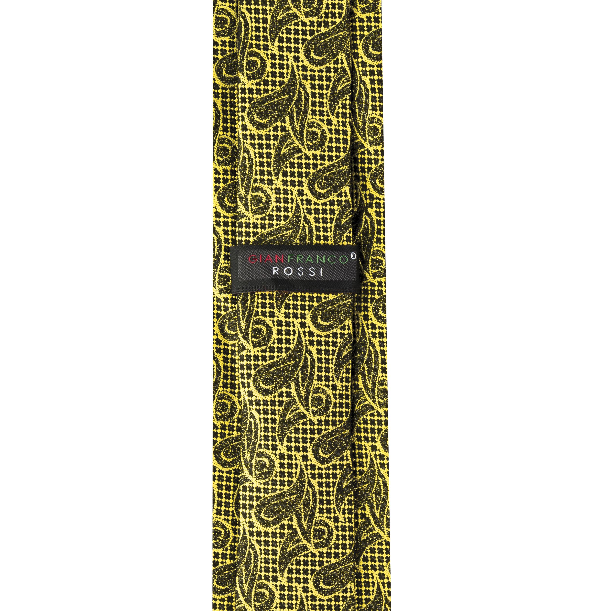 ست کراوات و دستمال جیب و گل کت مردانه جیان فرانکو روسی مدل GF-PA928-GO -  - 6