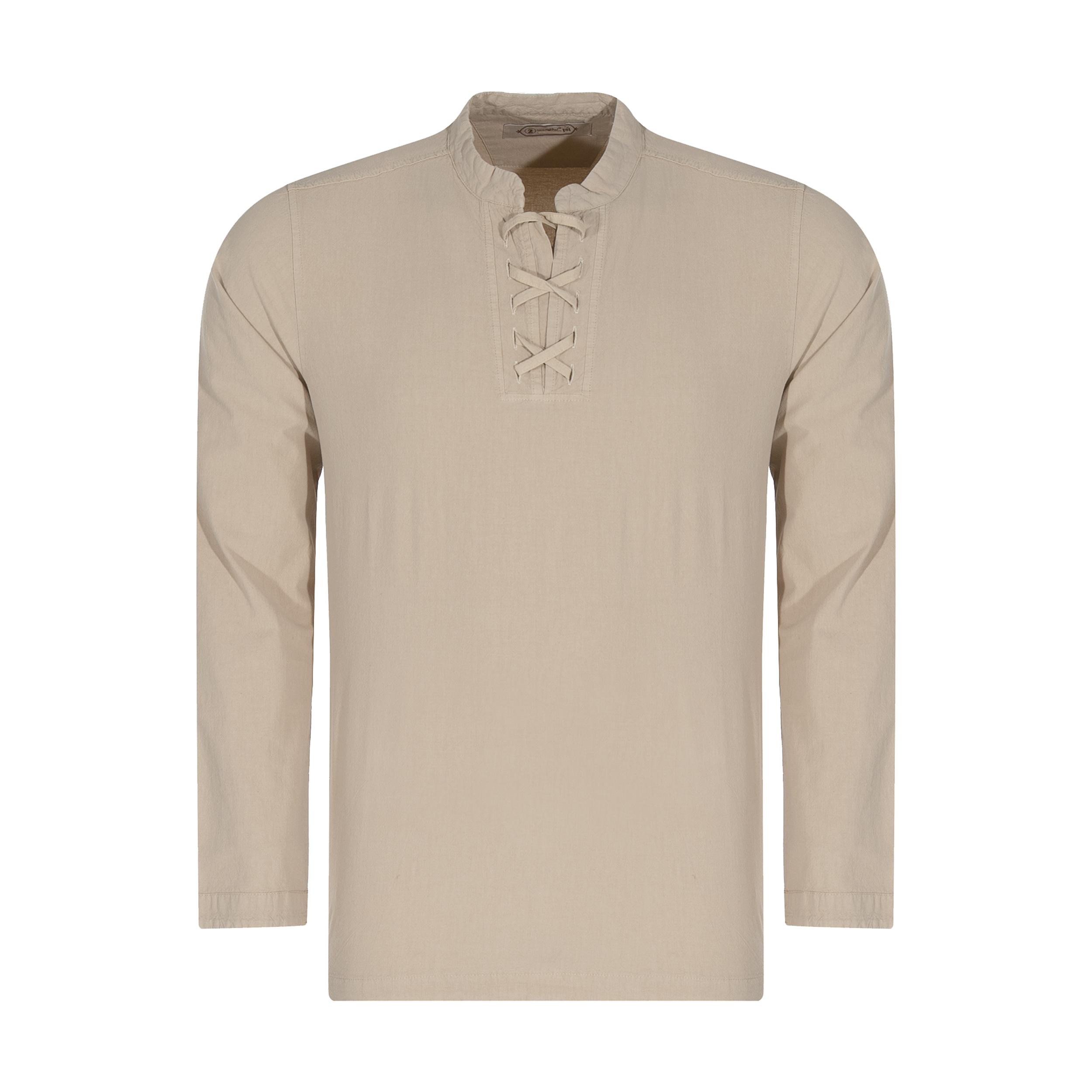پیراهن مردانه تن درست مدل 107-LIGHTCREAM