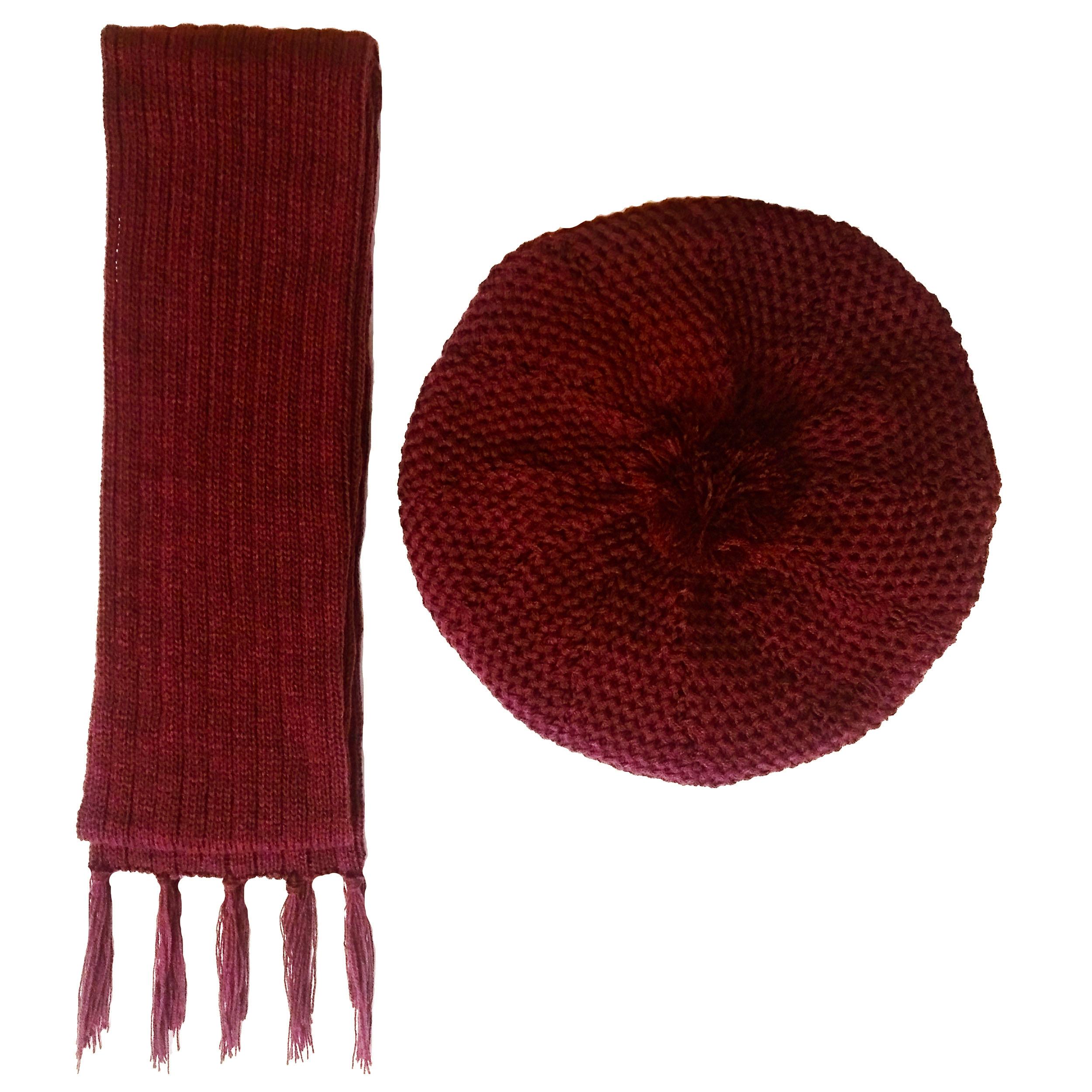 ست کلاه و شال گردن بافتنی زنانه کد B14
