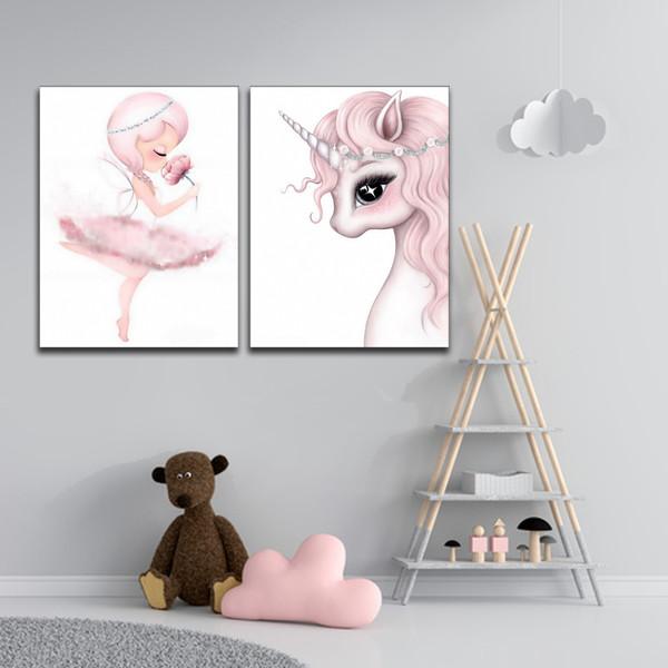 تابلو کودک و نوزاد آلباتروس مدل M051 مجموعه 2 عددی