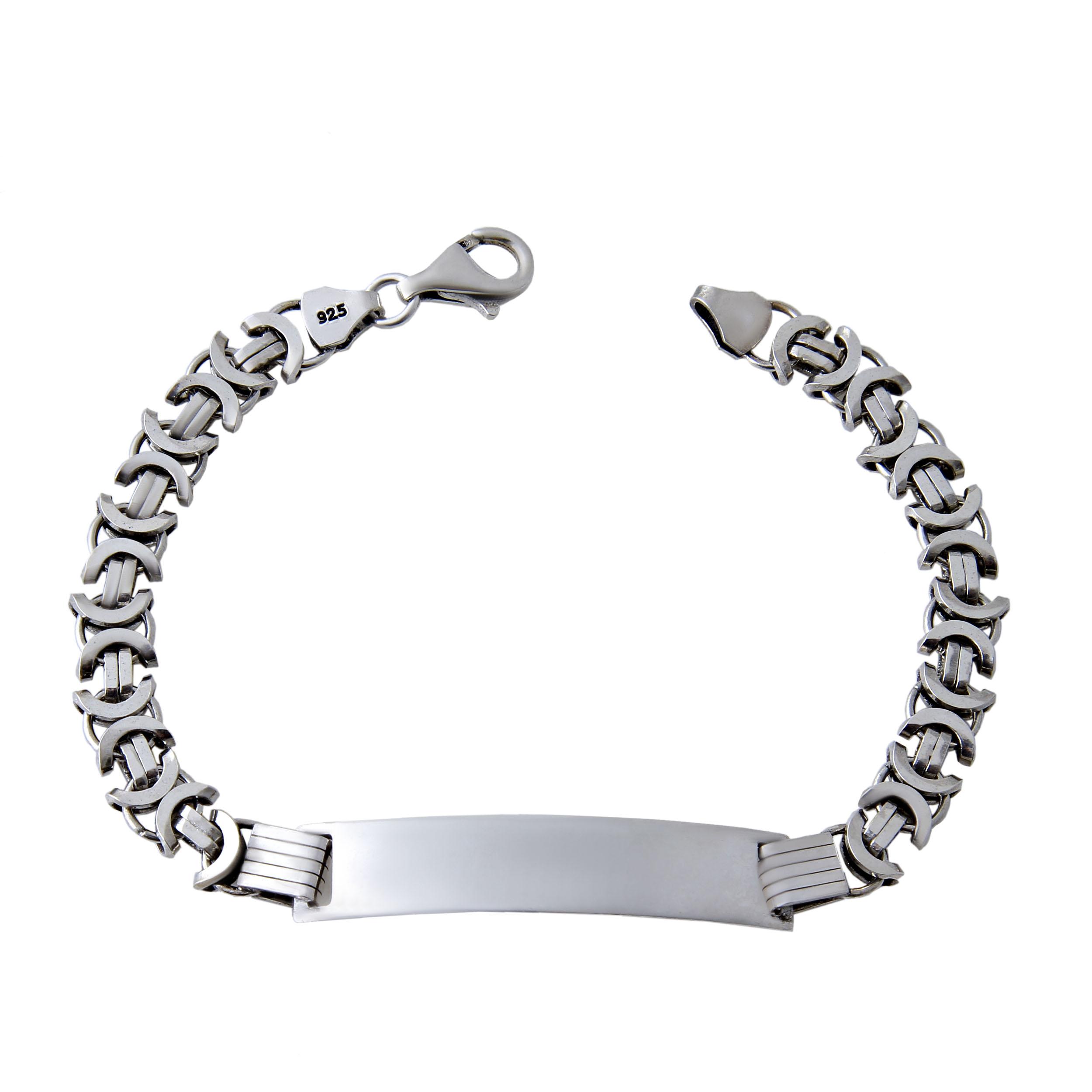 دستبند نقره مردانه بازرگانی میلادی کد DP_107