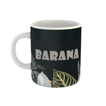 ماگ طرح اسم بارانا مدل برگ کد 427