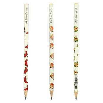 مداد مشکی فابر کاستل طرح حیوانات دریایی بسته 3 عددی