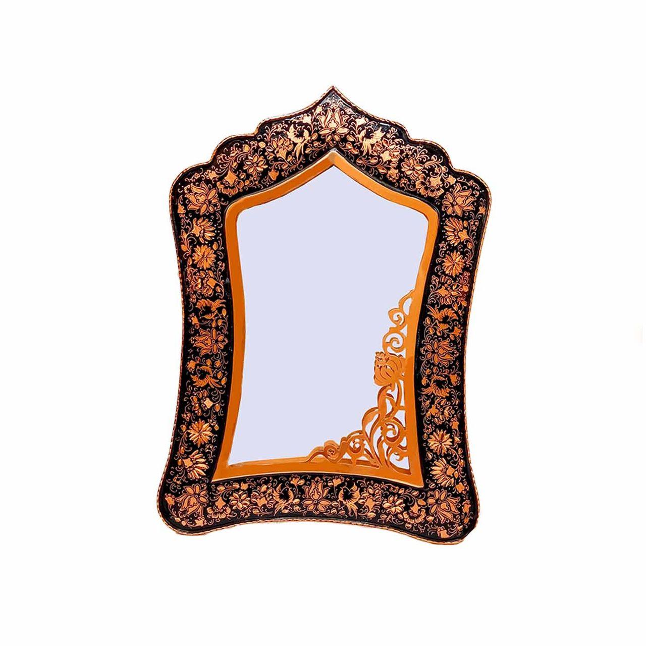 آیینه قلمزنی طرح گل و مرغ کد 066