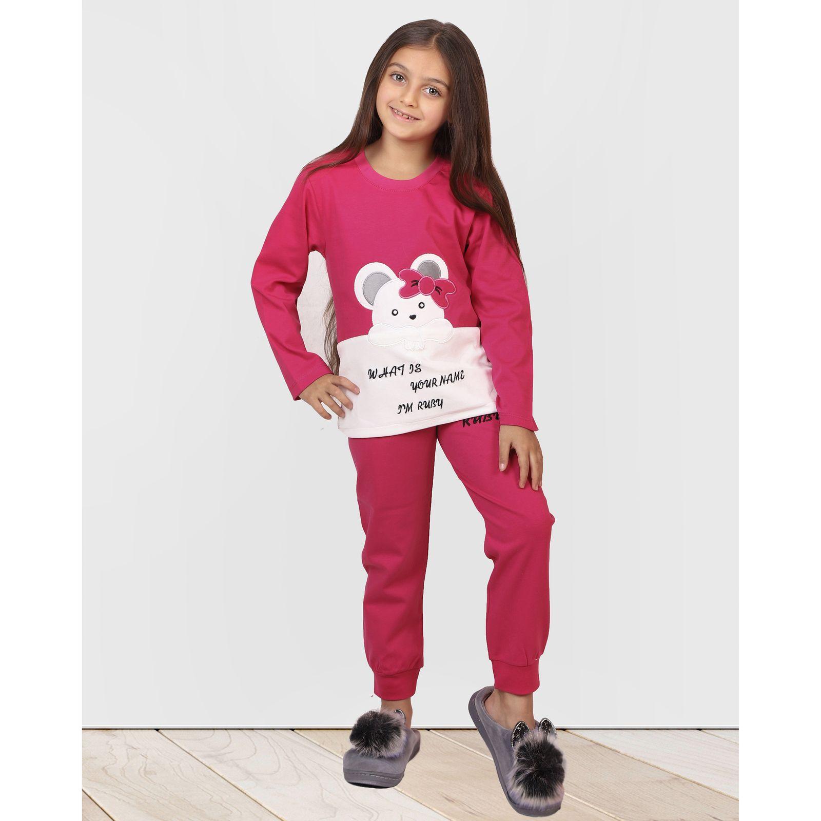 ست تی شرت و شلوار دخترانه مادر مدل 301-66 main 1 12