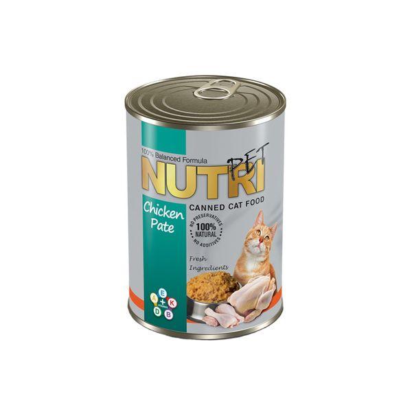 کنسرو غذای گربه نوتری پت مدل Chicken Pate وزن 425 گرم