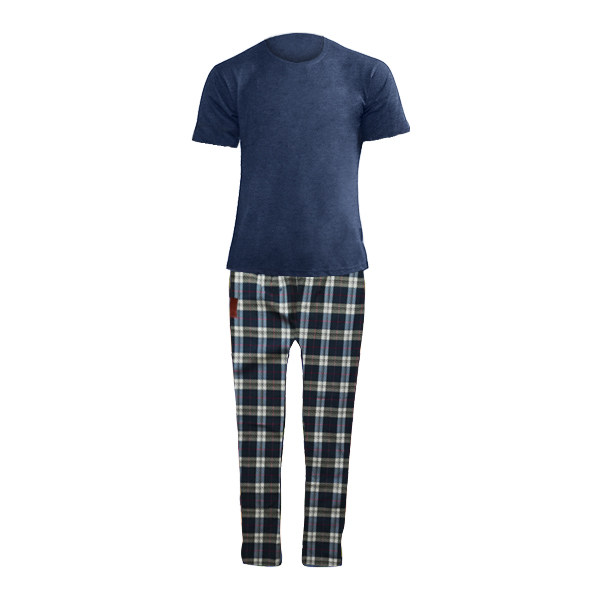 ست تی شرت و شلوار مردانه لباس خونه کد 990511 رنگ سرمه ای