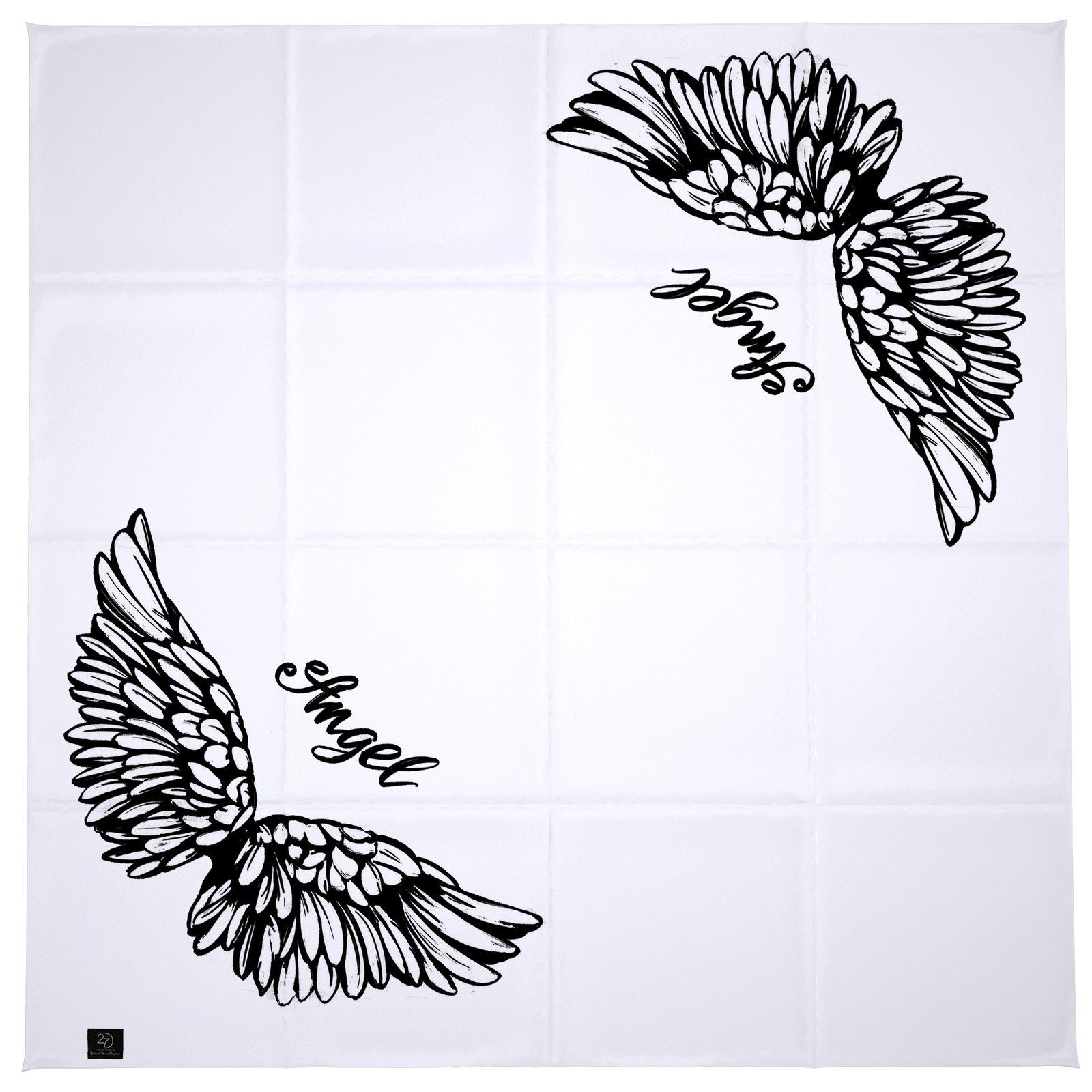 روسری زنانه 27 طرح angel کد H08 -  - 11