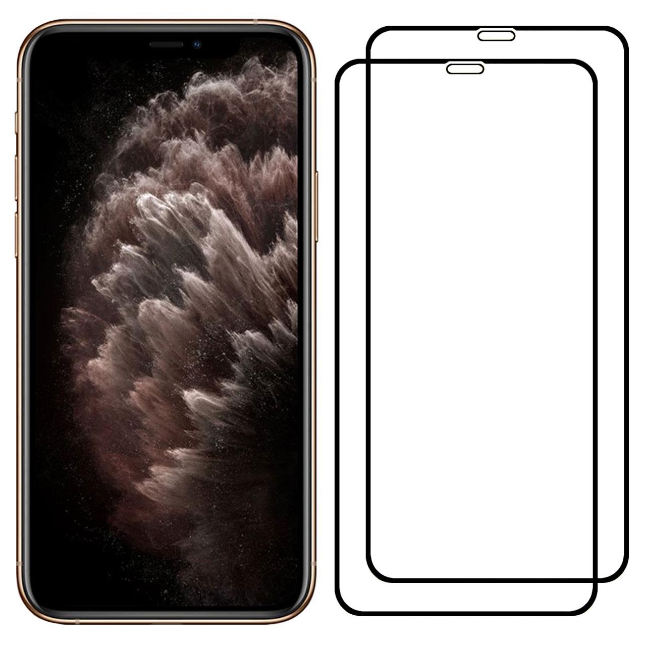 محافظ صفحه نمایش مدل FCG مناسب برای گوشی موبایل اپل iPhone 11 Pro Max بسته دو عددی