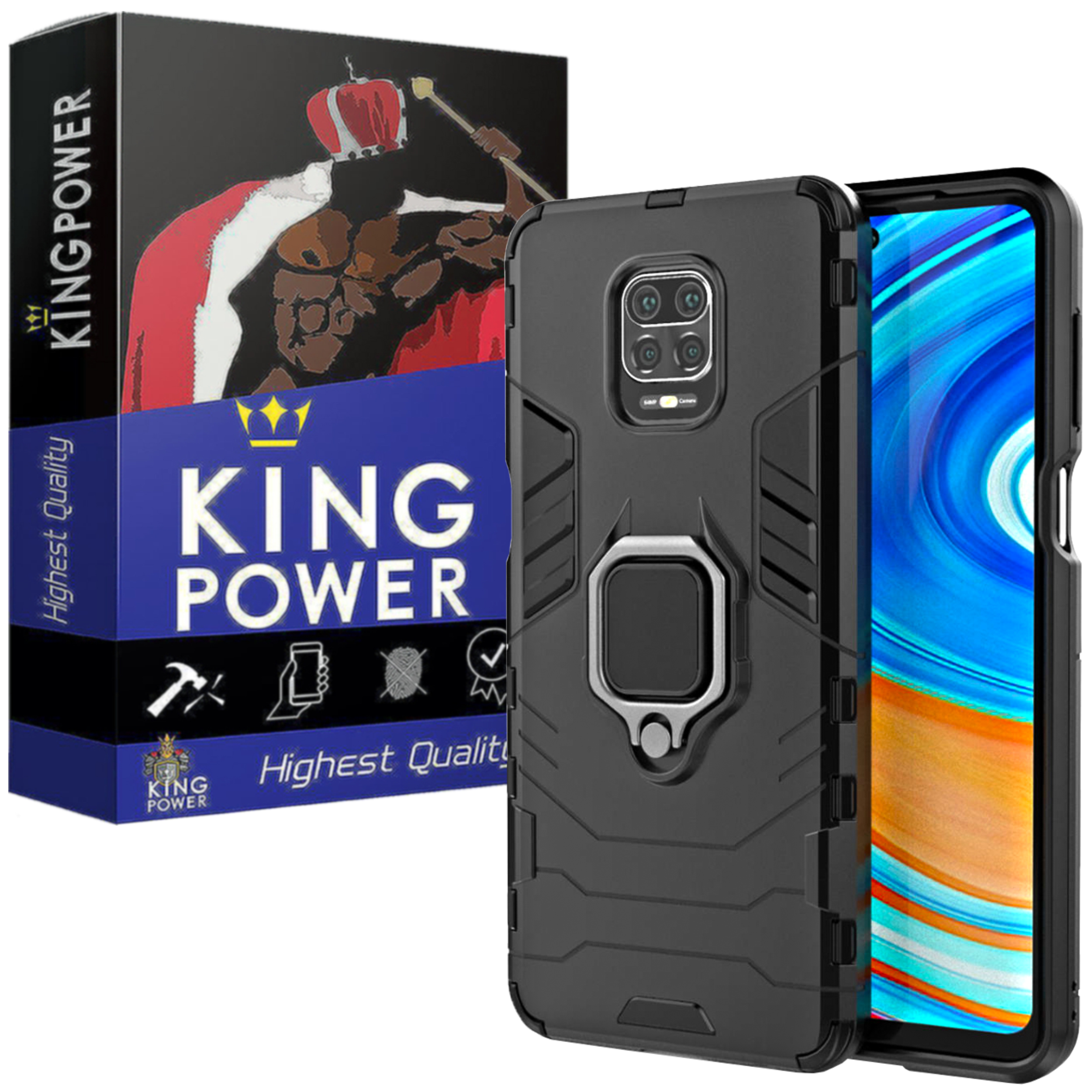 کاور کینگ پاور مدل ASH21 مناسب برای گوشی موبایل شیائومی Redmi Note 9S / Note 9 Pro / Note 9 Pro Max              ( قیمت و خرید)
