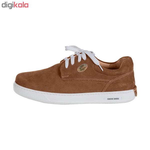 کفش روزمره هوشمند مردانه حکیم مدل T5 رنگ عسلی