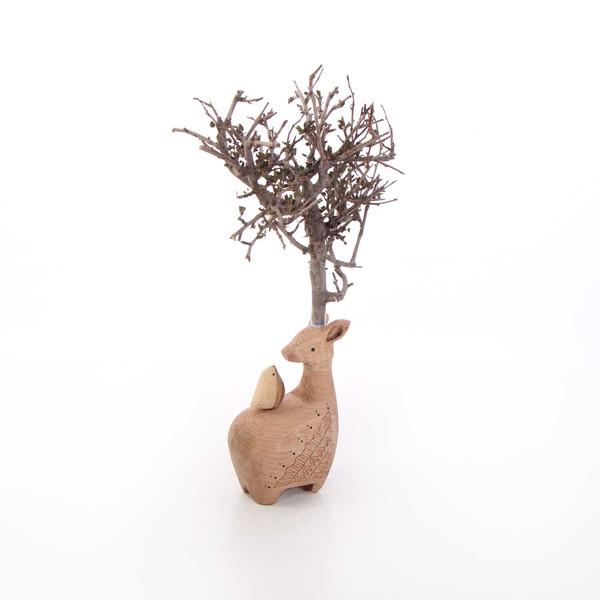 مجسمه چوبی آرانیک مدل گوزن خرامان کد  1105900050