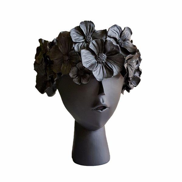 گلدان دکوری طرح گل به سر مدل M23