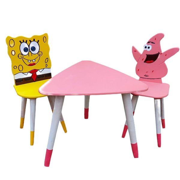ست میز و صندلی کودک مدل باب اسفنجی و پاتریک