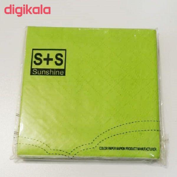 دستمال سفره سانشاین مدل ss016 بسته 20عددی main 1 4