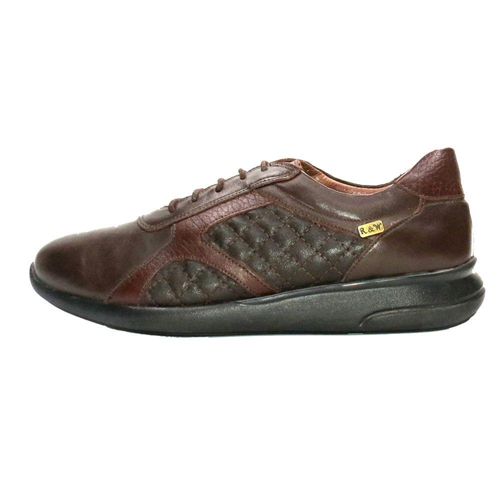 کفش روزمره زنانه آر اند دبلیو مدل 761 رنگ قهوه ای