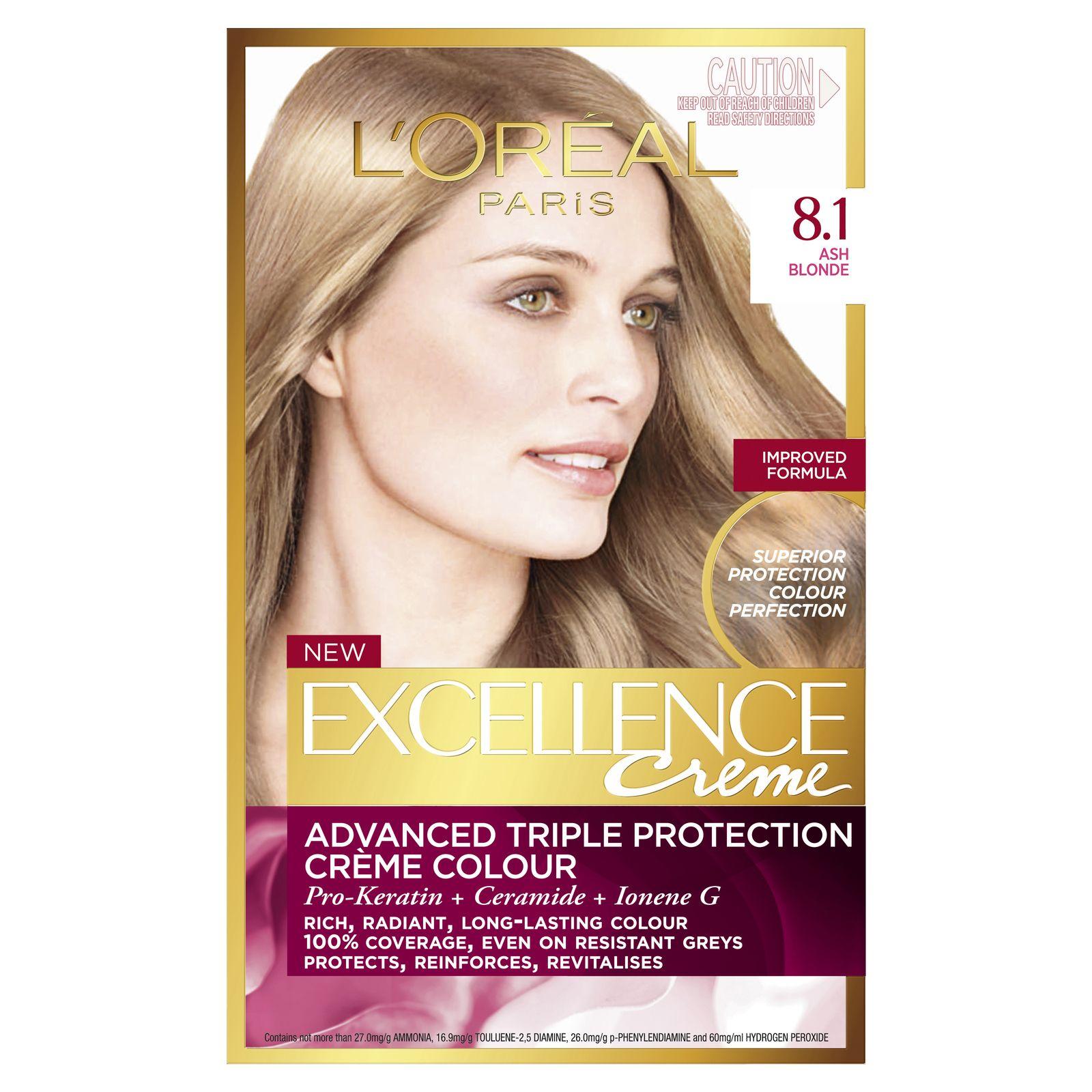 کیت رنگ مو لورآل مدل Excellence شماره 8.1 حجم 48 میلی لیتر رنگ بلوند دودی روشن main 1 1