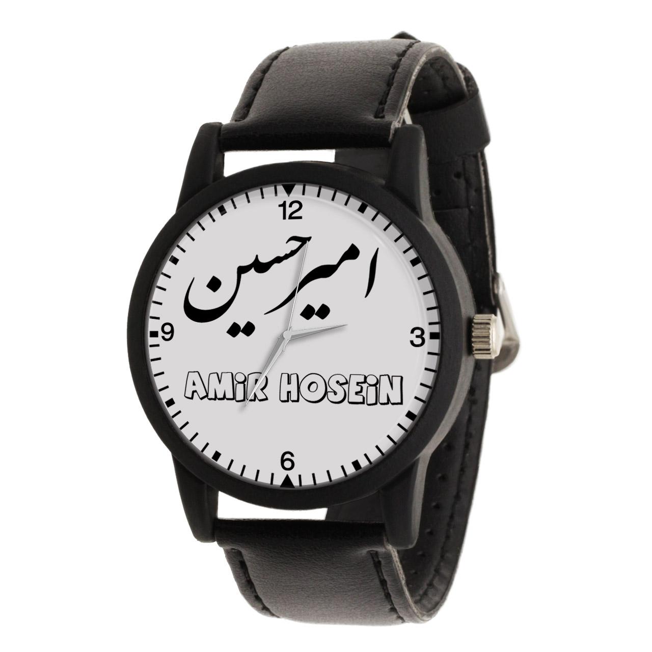 قیمت                      ساعت مچی عقربه ای مردانه طرح امیر حسین کد LF3042