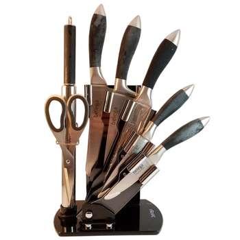 ست چاقو آشپزخانه 8 پارچه مدل M129