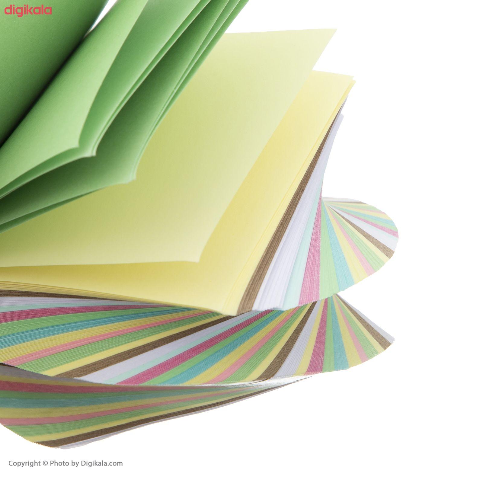 کاغذ یادداشت 10 رنگ طرح چرخشی main 1 2
