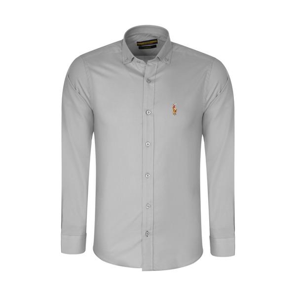 پیراهن آستین بلند مردانه پولو مدل MM05