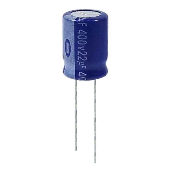 خازن الکترولیت 22 میکروفاراد 400 ولت آکسبوم مدل TEC-22400