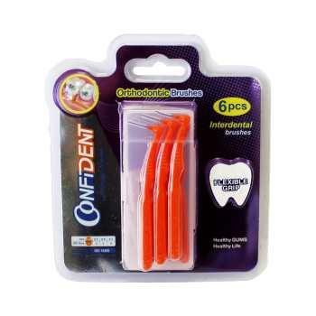 مسواک بین دندانی کانفیدنت سایز 1 بسته 6 عددی