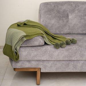 شال مبل و تخت مدل راهراه سایز 130x170 سانتیمتر