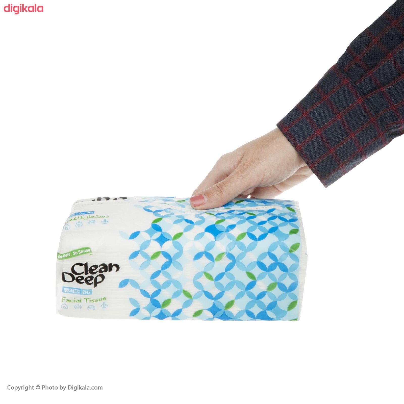 دستمال کاغذی 100 برگ دیپ کلین مدل 01 بسته 10 عددی main 1 4