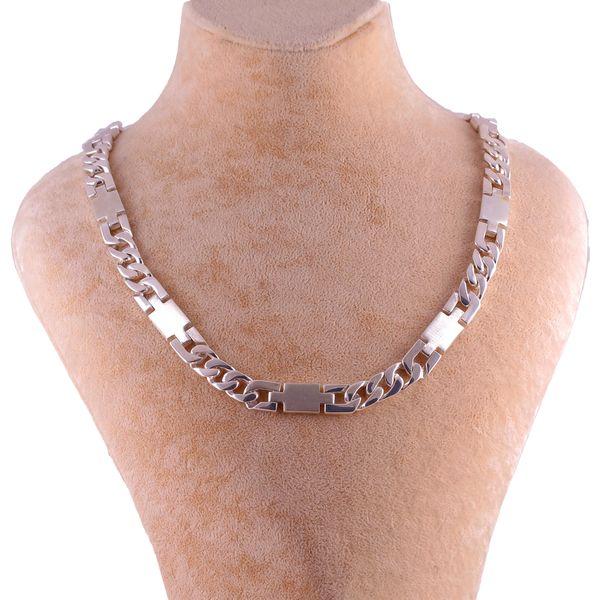 زنجیر نقره مردانه جواهری گاندی مدل znm005