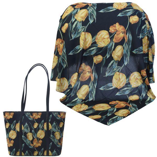 ست کیف و روسری زنانه کد 981019-T1