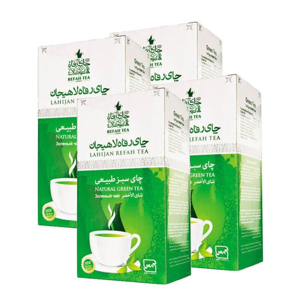 چای سبز طبیعی رفاه لاهیجان - 210 گرم مجموعه 4 عددی