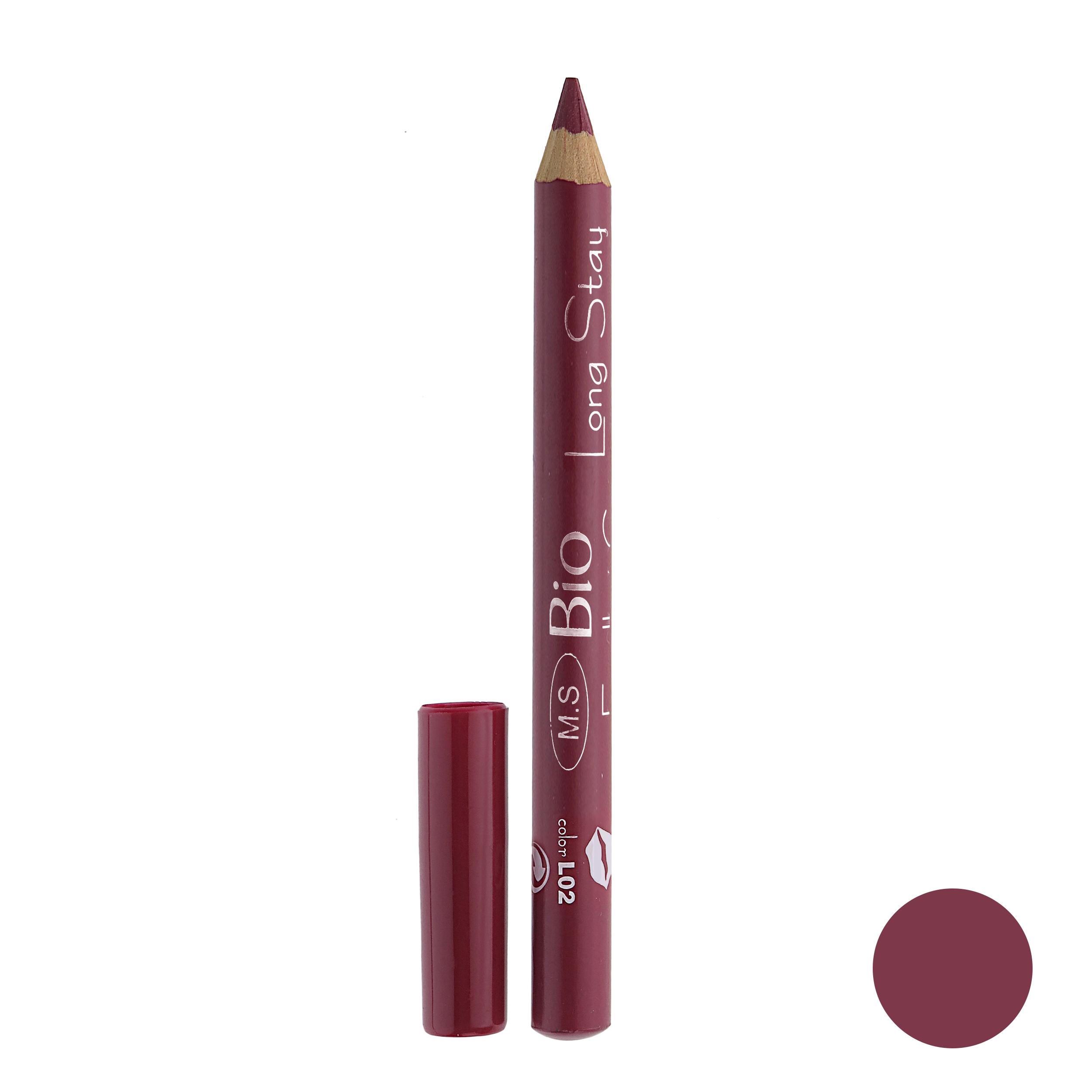 رژ لب مدادی بی یو مدل لانگ استار شماره L02