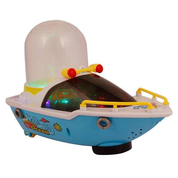 اسباب بازی کشتی موزیکال مدل چراغ و آبشار دار