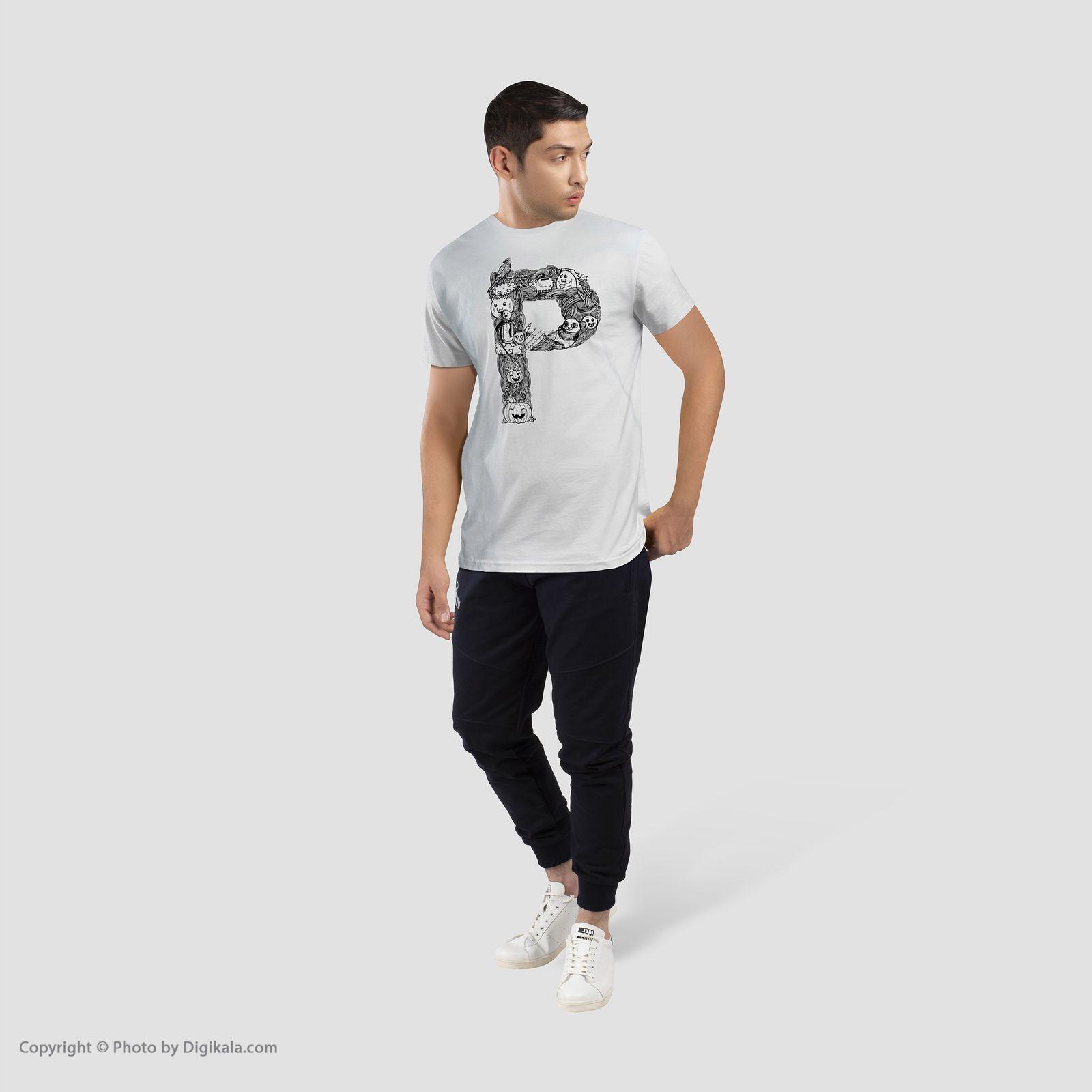 تی شرت آستین کوتاه مردانه شین دیزاین طرح حروف اول اسم P کد 4553 main 1 1