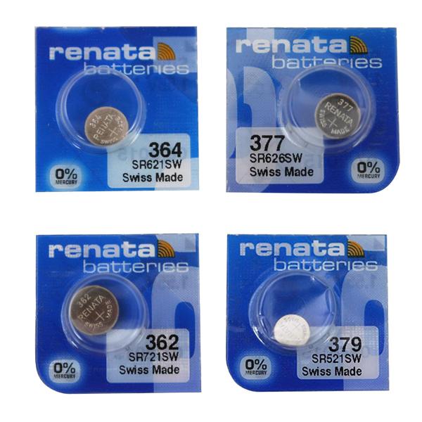 بررسی و {خرید با تخفیف} باتری ساعت رناتا مدل 364-377-362-379 بسته 4 عددی اصل